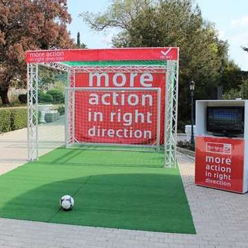 Kick-Point Interactive Soccer Goal Delivers Brand Messages Online