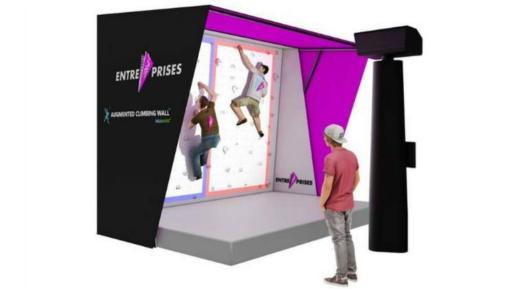 Augmented Climbing Wall Gets Global Service Package Through Partnership with Entre-Prises