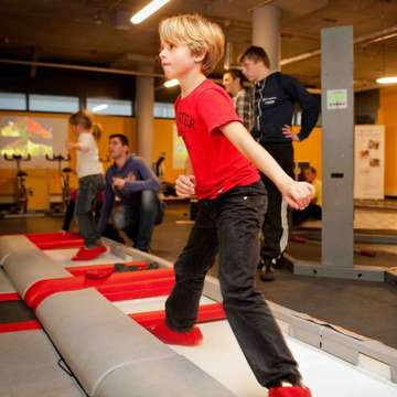 Interactive Ice Skating and Trampoline Games for Better Fitness