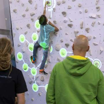 Augmented Climbing Wall Introduces First Gaming Platform for Indoor Climbing