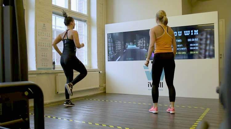 iWall Delivers Immersive Fitness Games for Strength and Cardio Workouts