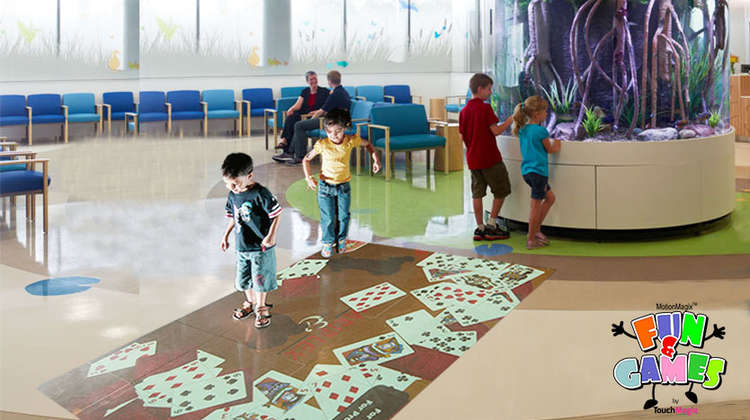 MotionMagix Interactive Floor Installed in Mumbai Hospital