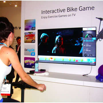 Samsung Presents Cyberbike at CES 2013