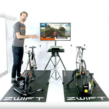 Zwift Offers Social Cycling in Virtual Environments