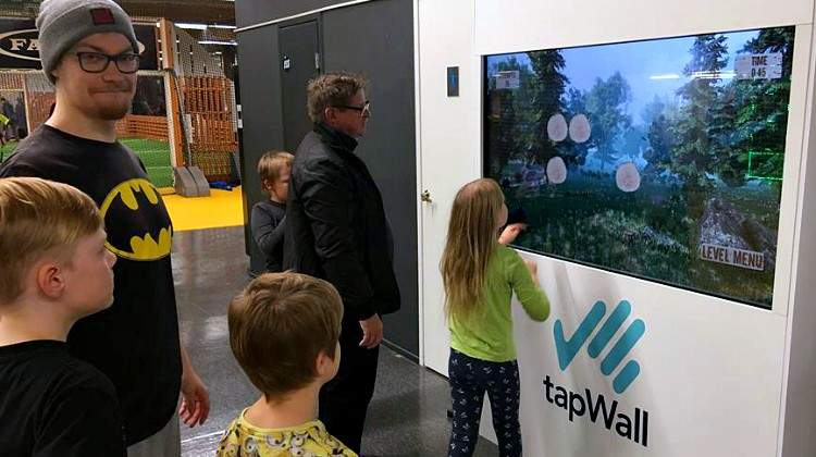 TapWall Engages Players in Workout Games That Improve Reaction Time and Agility