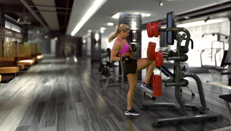 interactive boxing machine