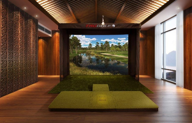 Trugolf simulators bring fully immersive golf practice and for Golf simulator room dimensions