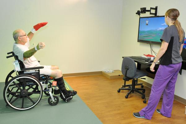 Gesturetek Immersive Therapy Suite on gesture controlled chair