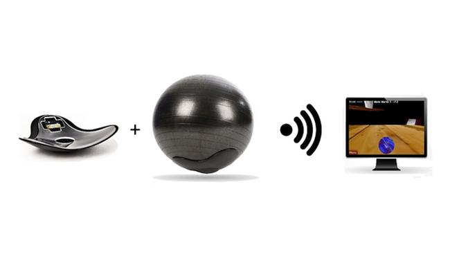 MOVOBall movimiento de la horquilla Usos de teléfonos inteligentes juegos de movimiento para que los usuarios Fit